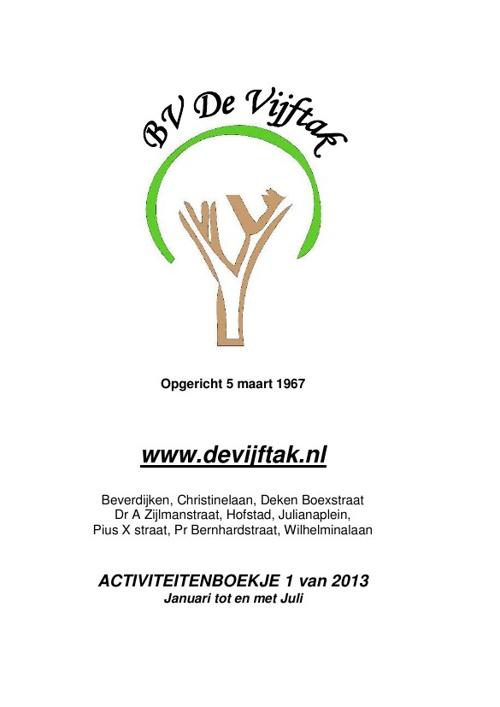 BV de Vijftak boekje 1-2013
