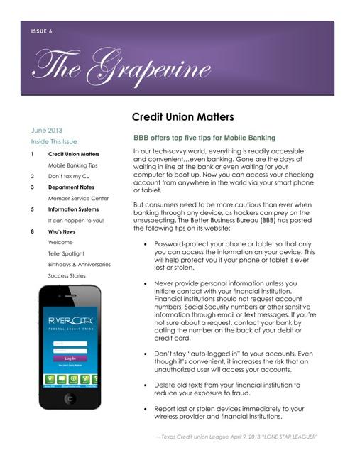 Grapevine June 2, 2013