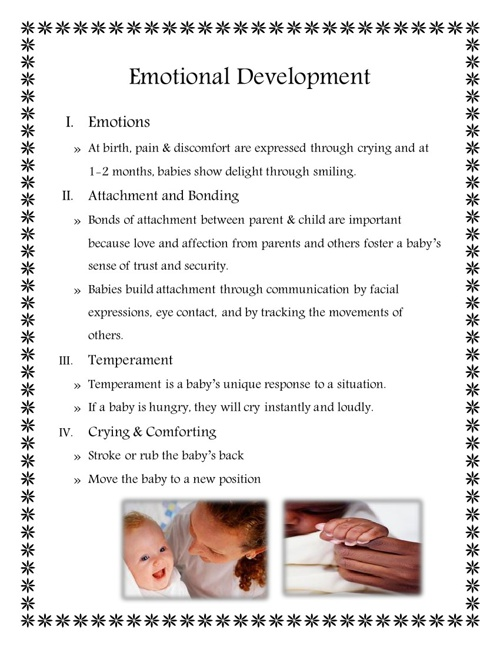 Growth and Development of Infants Title Page