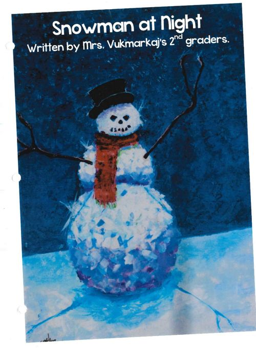 snowman at night