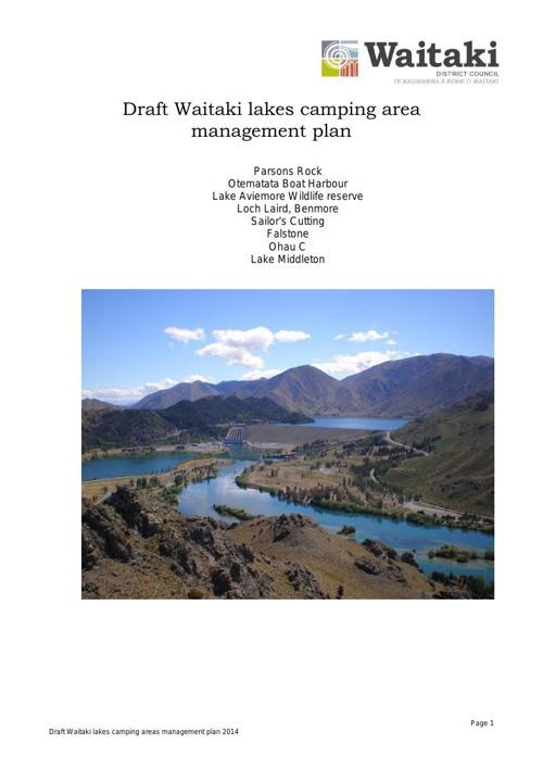 Draft Lakes Camping Management Plan