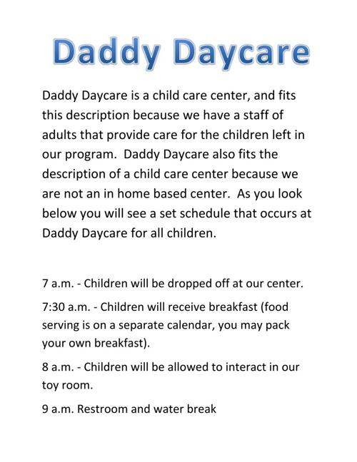 Daddy Daycare by Daniel Terrana