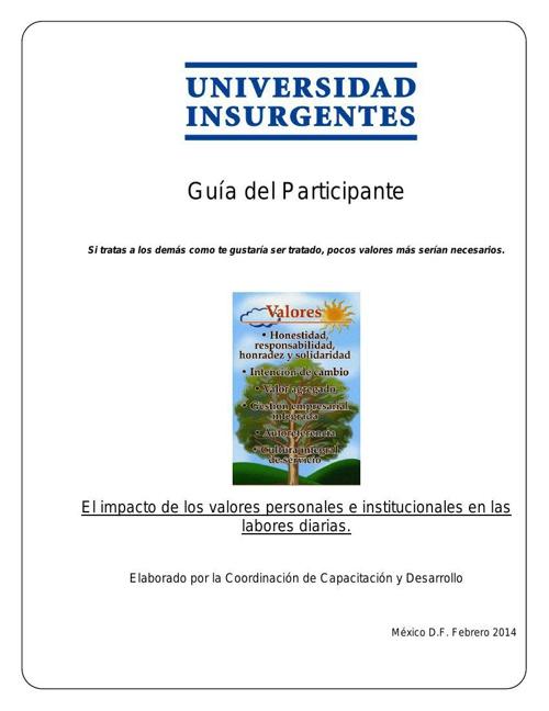 Guía del Participante