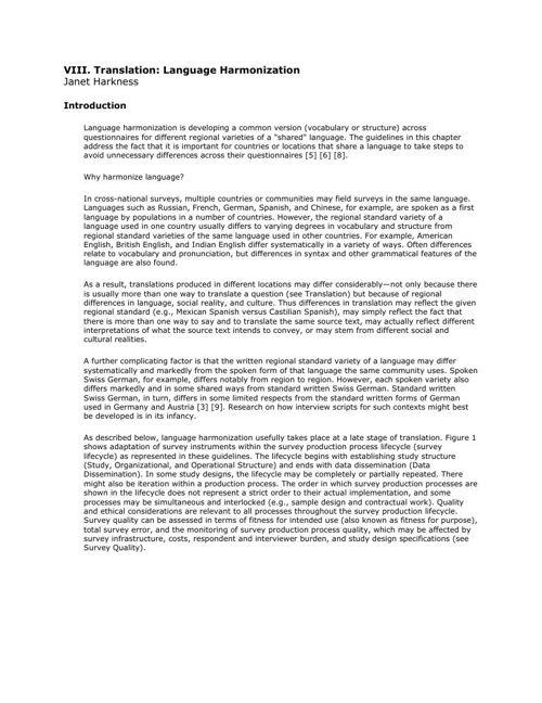 CCSG - 8b. Translation - Language Harmonization
