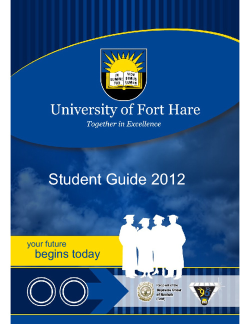 University of Fort Hare Study Guide 2012