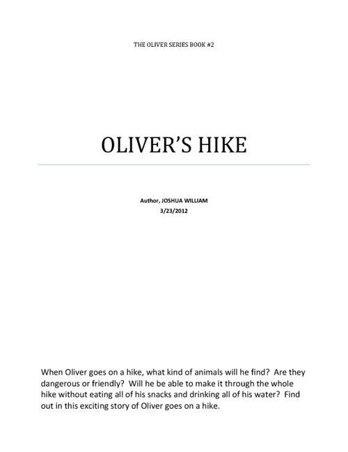 Oliver's Hike