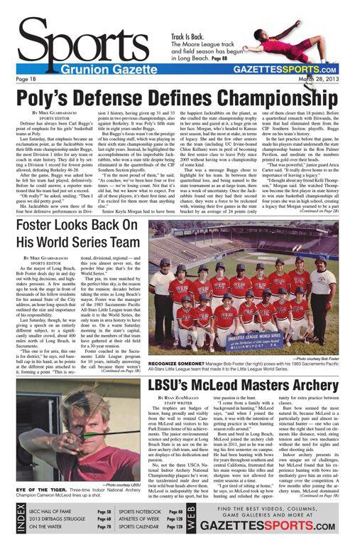 Gazette Sports | March 28, 2013