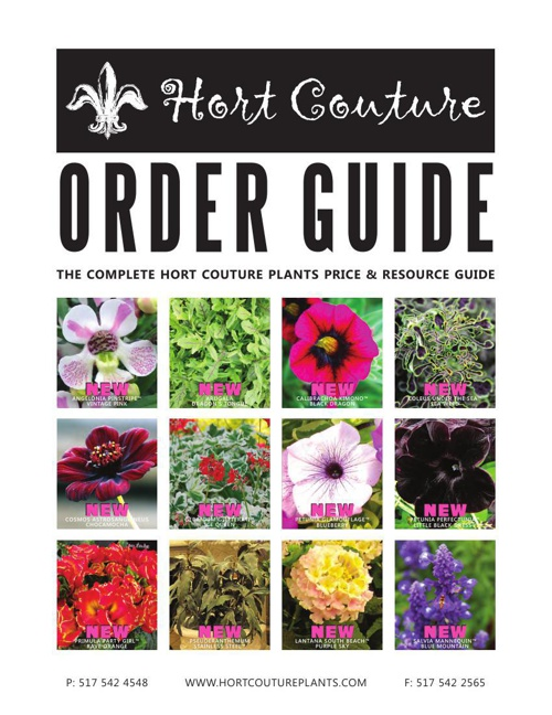 2015 Hort Couture Order Guide
