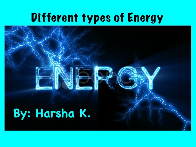 Bunneto Energy Types of Energy