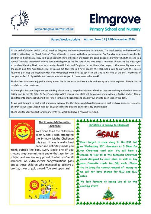Elmgrove Newsletter