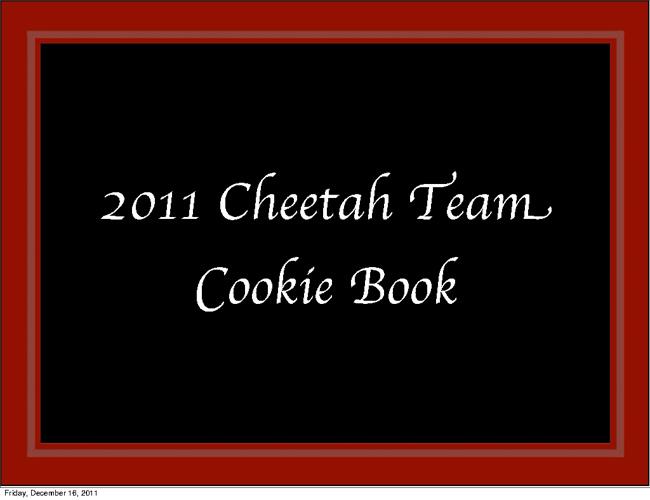 Cheetah Team Cookie Book 2011