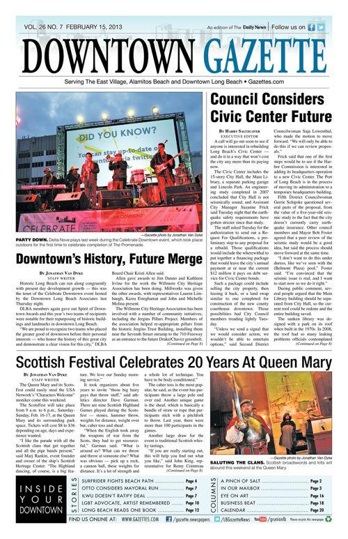 Downtown Gazette     February 15, 2013