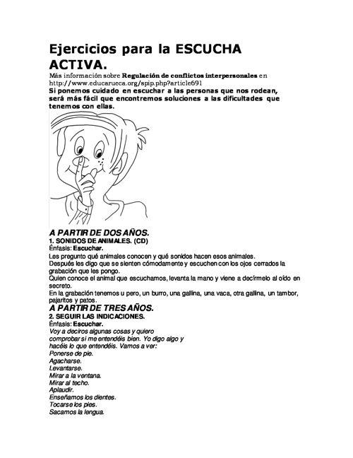 Ejercicios para la ESCUCHA ACTIVA