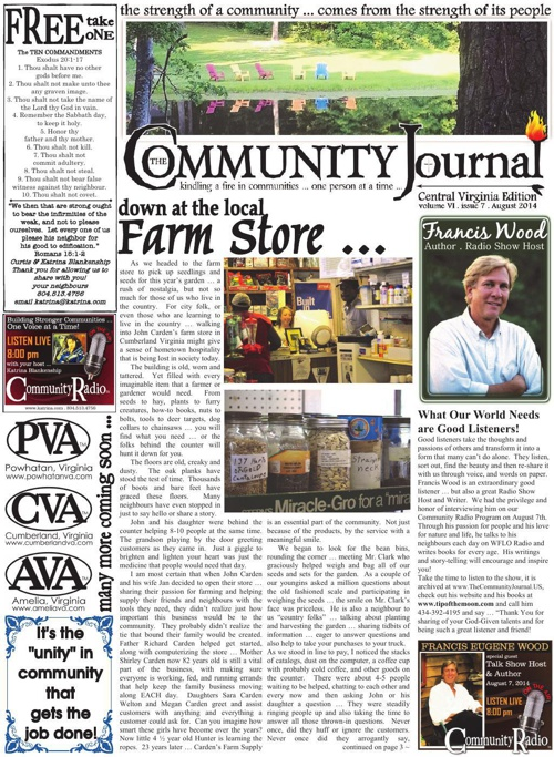 The Community Journal of Central Virginia . August 2014