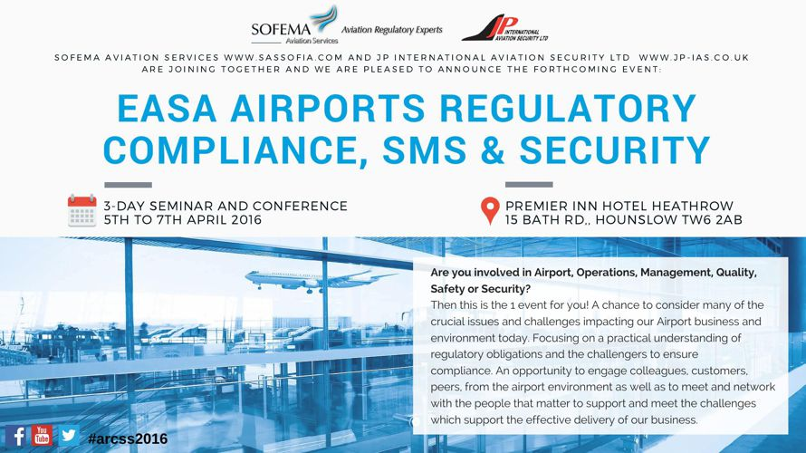 EASA Airports Regulatory Compliance, SMS & Security 3 Day Se