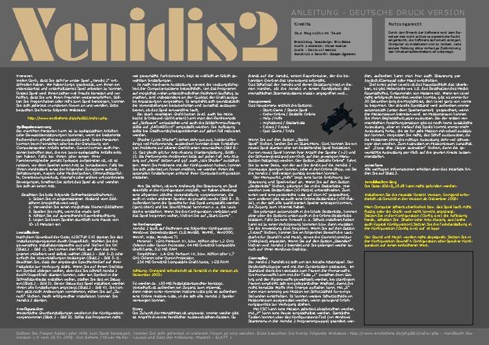 Xenidis 2 Handbuch