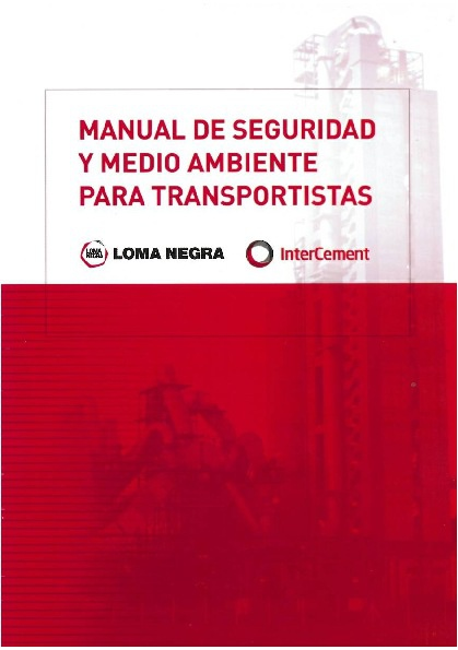 Manual de Seguridad y Medio Ambiente para Transportistas