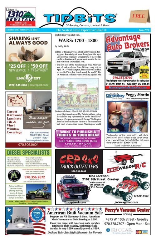 Tidbits of Greeley/Centerra/Loveland, Issue 970