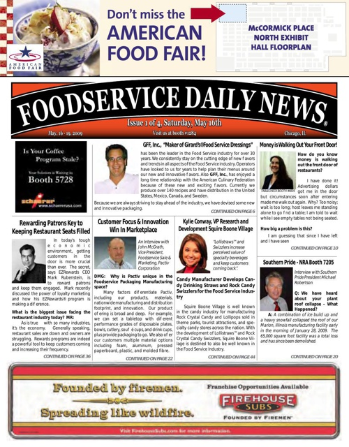 Foodservice Daily News Day 1	May 16-19, 2009