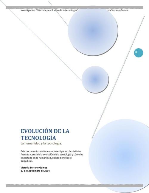 EVOLUCION DE LA TECNOLOGÍA