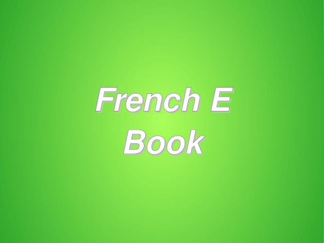 French E Book