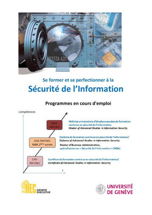 Brochure Formation en sécurité de l'information