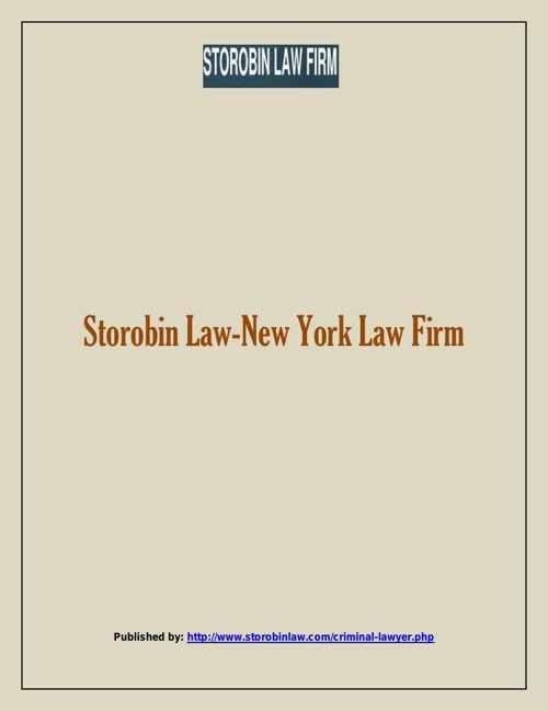 Storobin Law-New York Law Firm