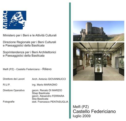 Melfi (PZ) - Castello Federiciano - Rilievo