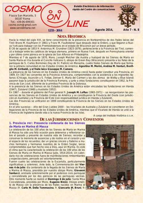 Bollettino Agosto 2014 esp