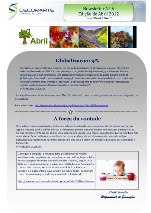 Newsletter Decorarte_Abril 2012