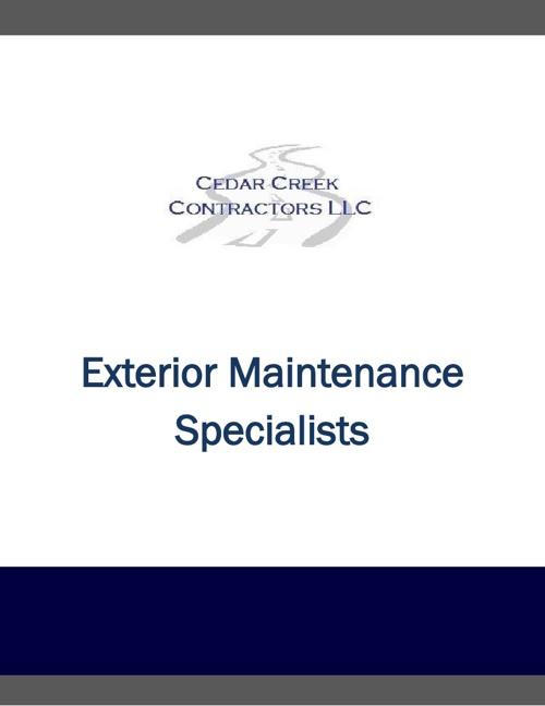 Cedar Creek Contractors LLC Company Information
