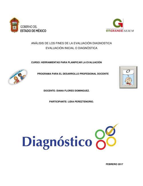 ANÁLISIS DE LOS FINES DE LA EVALUACIÓN DIAGNOSTICA