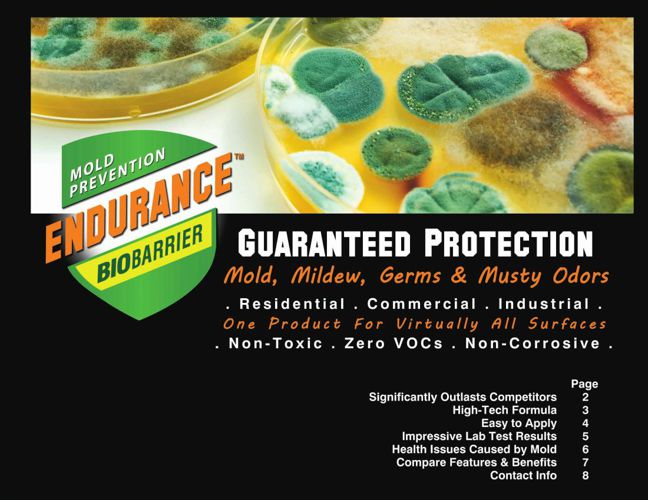 Guaranteed Mold Prevention with Endurance BioBarrier