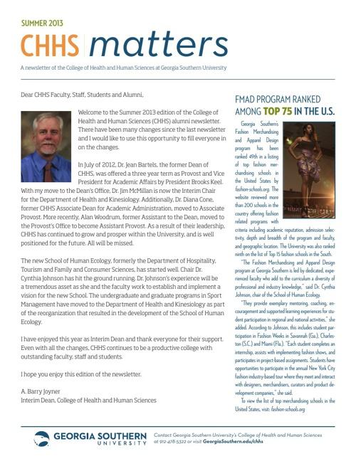 CHHS Matters Summer 2013