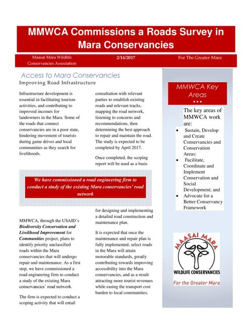 Access to Mara Conservancies