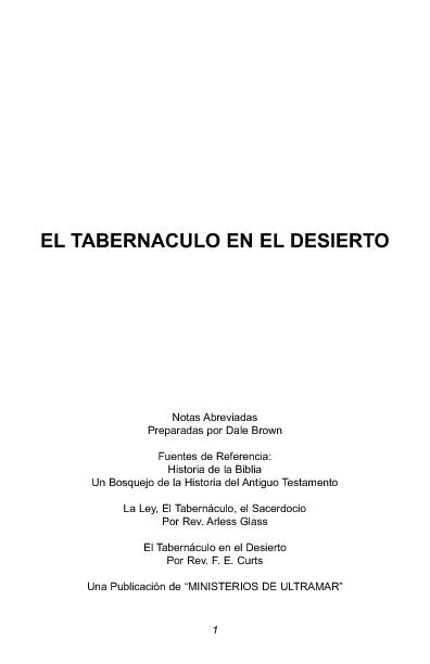 EL TABERNÁCULO