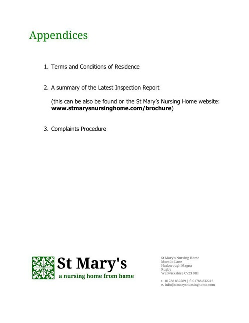 St Mary's Nursing Home Information Pack [2]