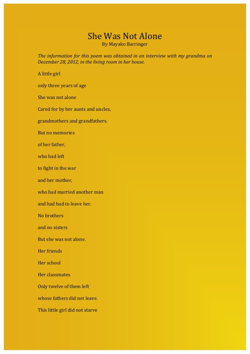 World War II Poem