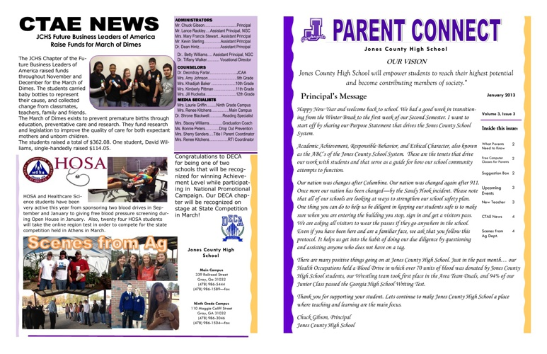 January 2013 Parent Connect