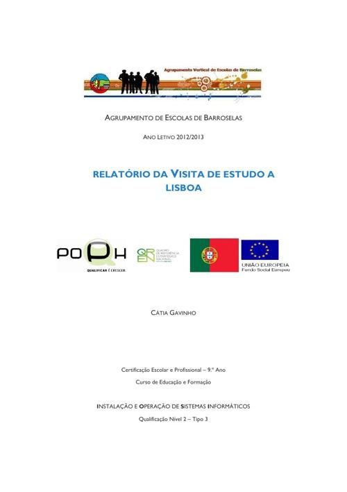 Relatório da Visita de Estudo a Lisboa