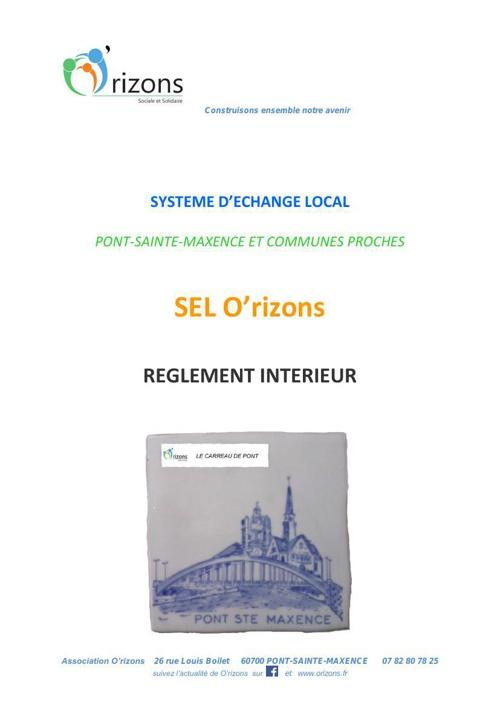 réglement SEL-version 1- janvier 2015