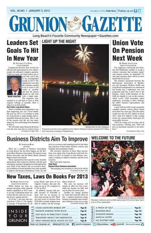 Grunion Gazette | January 3, 2013