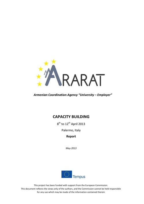 ARARAT Capacity Building Report