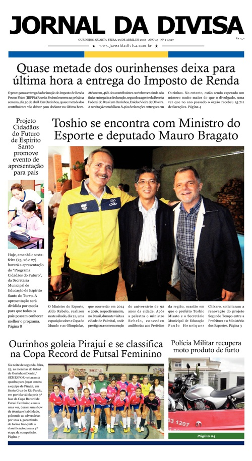 JORNAL DA DIVISA - Edição de 25 de Abril de 2012.