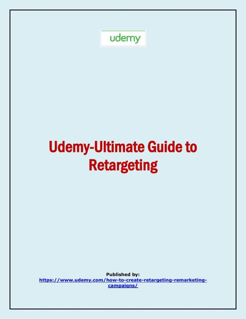 Udemy-Ultimate Guide to Retargeting