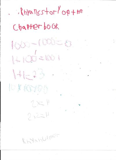 Rhyan's chapter book cover