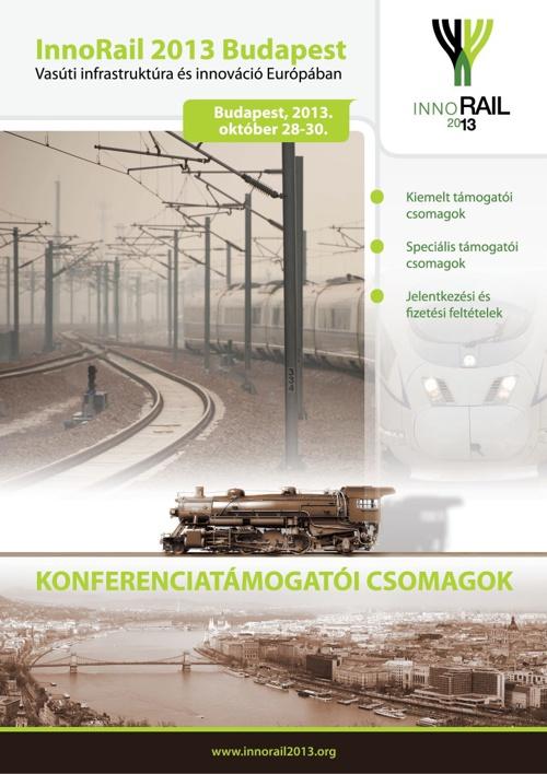Innorail 2013 Budapest - Konferenciatámogatói csomagok