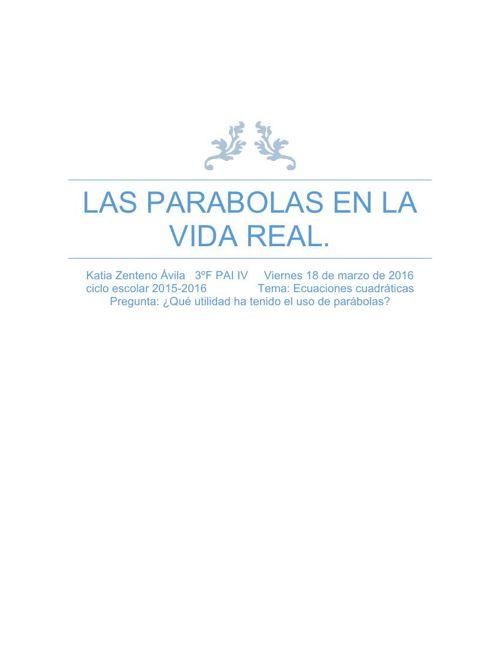 Las parabolas en la vida real