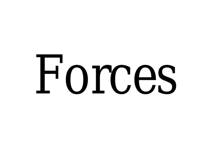 FORCES INTRO