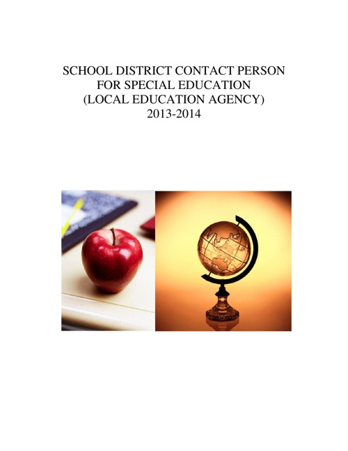 Copy of Copy of SPECIAL EDUCATION LEA 2013-2014